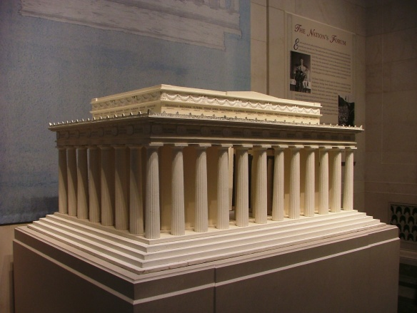 Model of the Lincoln Memorial at the National Gallery of Art